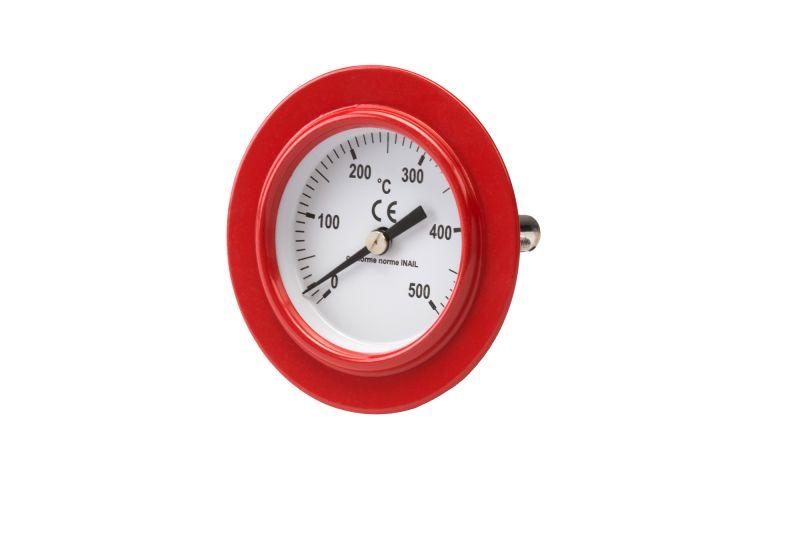 Termometro Forno a legna in refrattario con portina in acciaio verniciato termometro e spioncino. forni valoriani